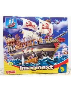 IMAGINEXT. Barco de los piratas. Fisher Price. Mattel