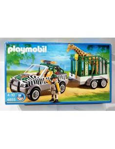 4855 Vehiculo del zoo con remolque. PLAYMOBIL