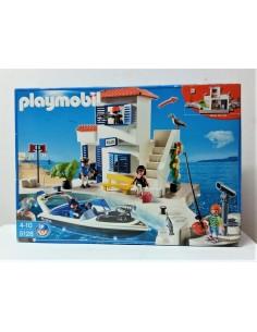 5128 Policía de puerto y lancha. PLAYMOBIL