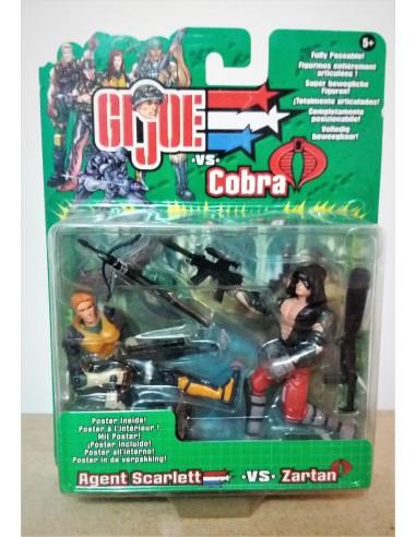 GIJOE VS. COBRA - Agent Scarlett vs. Zartan- Hasbro.