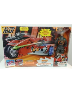 ACTION MAN Pack Motor Bike Extreme + Moto Racer - Hasbro.