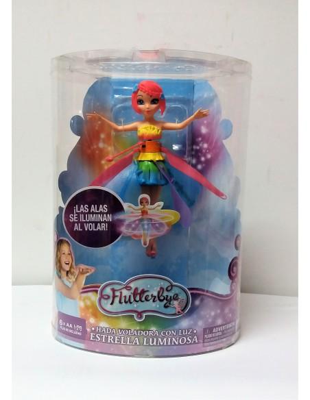 Flutterbye - Hada voladora con luz. Estrella Luminosa - Bizak